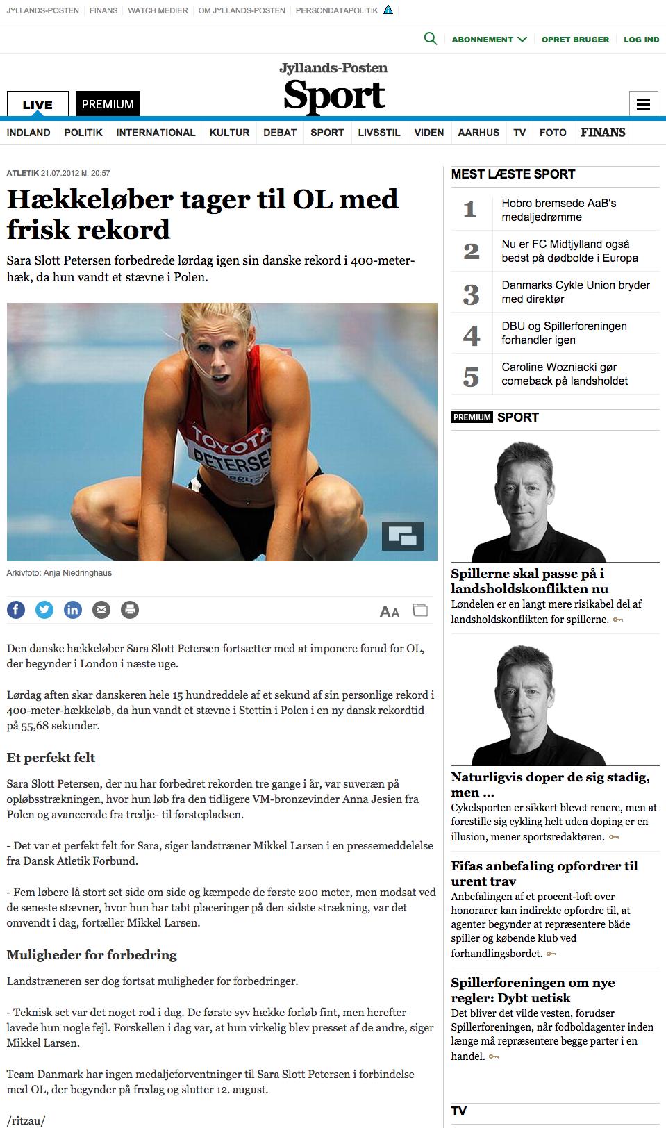 Hækkeløber tager til OL med frisk rekord - Atletik - Anden sport - Sport