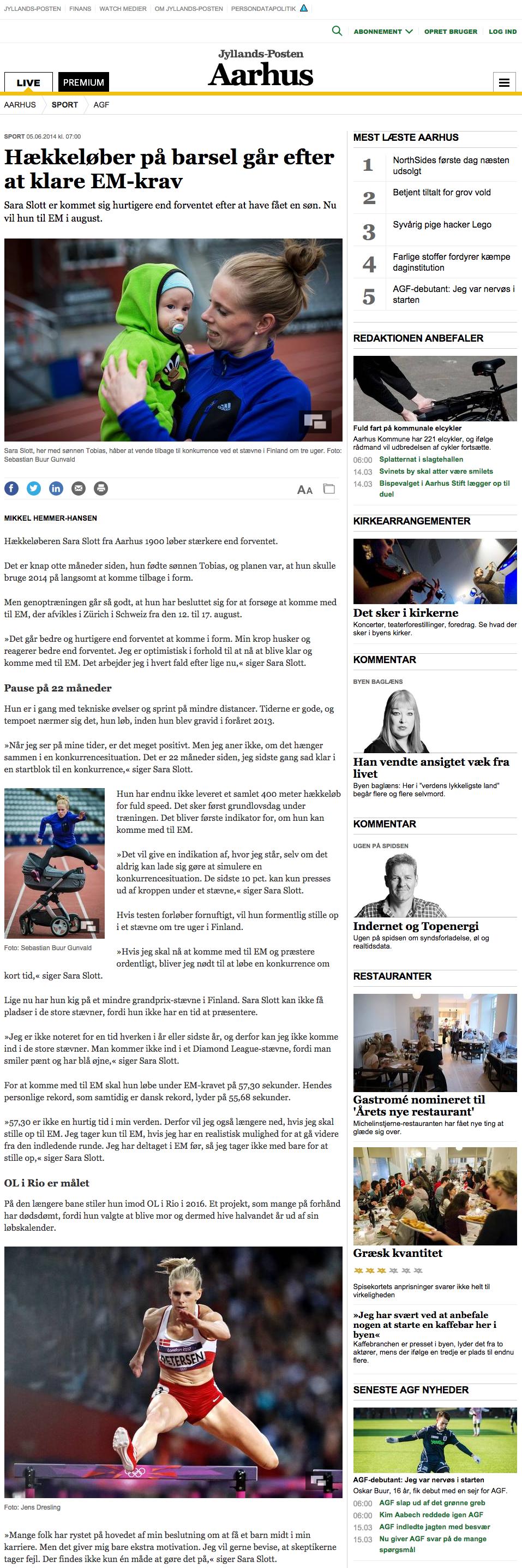 Hækkeløber på barsel går efter at klare EM-krav - Sport - Aarhus