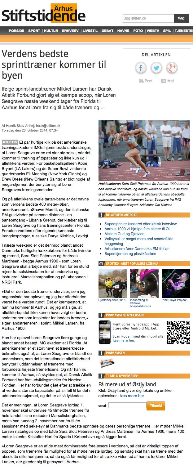 Verdens bedste sprinttræner kommer til byen - Sport   stiften.dk